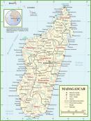 Politická mapa Madagaskaru ke stažení