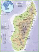 Mapa reliéfu Madagaskaru ke stažení