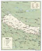 Politická mapa Nepálu ke stažení