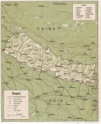 Mapa reliéfu Nepálu ke stažení