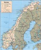 Politická mapa Norska ke stažení