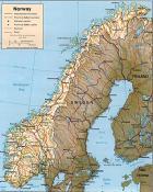 Mapa reliéfu Norska ke stažení
