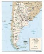 Politická mapa Argentiny ke stažení