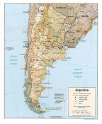 Mapa reliéfu Argentiny ke stažení