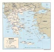 Politická mapa Řecka ke stažení
