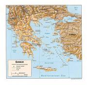 Mapa reliéfu Řecka ke stažení