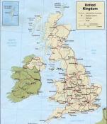 Politická mapa Skotska ke stažení