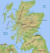 Mapa reliéfu Skotska ke stažení