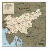 Politická mapa Slovinska ke stažení
