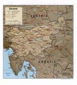 Mapa reliéfu Slovinska ke stažení