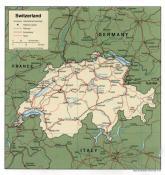 Politická mapa Švýcarska ke stažení