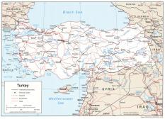Politická mapa Turecka ke stažení
