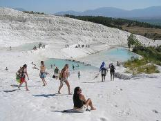 Travertinové kupy Pamukkale