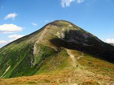 Hora Hoverla se nachází vČernohorském masívu